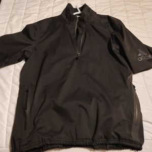 Adidas climaproof short sleeve wind/rain pullover